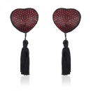Heart shine nipples tassels / cover, red