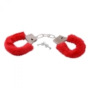 Furry Handcuffs, red