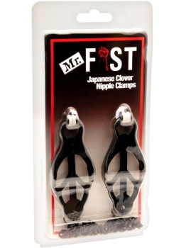 Mr.Fist Japanese Clover Nipple Clamps, black
