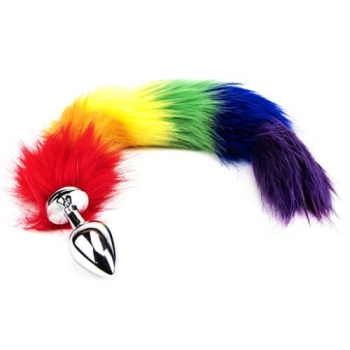 Rainbow Tail with metal plug