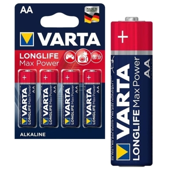 Varta Longlife Max Power AA- 4 batteries blister pack