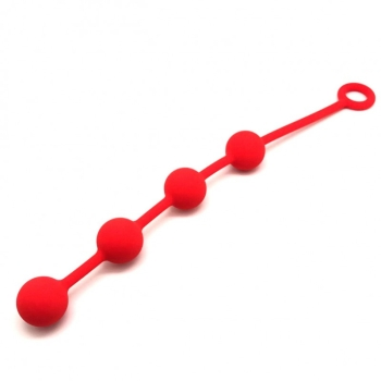 Anal Balls 4 x 30 mm, red