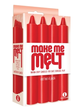 Make Me Melt - warm drip candles, red